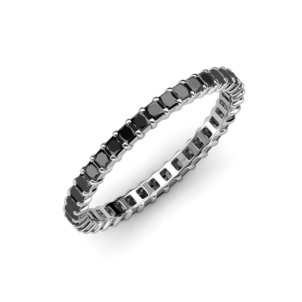platinum band by luxurman main eternity black white rings bands diamond and