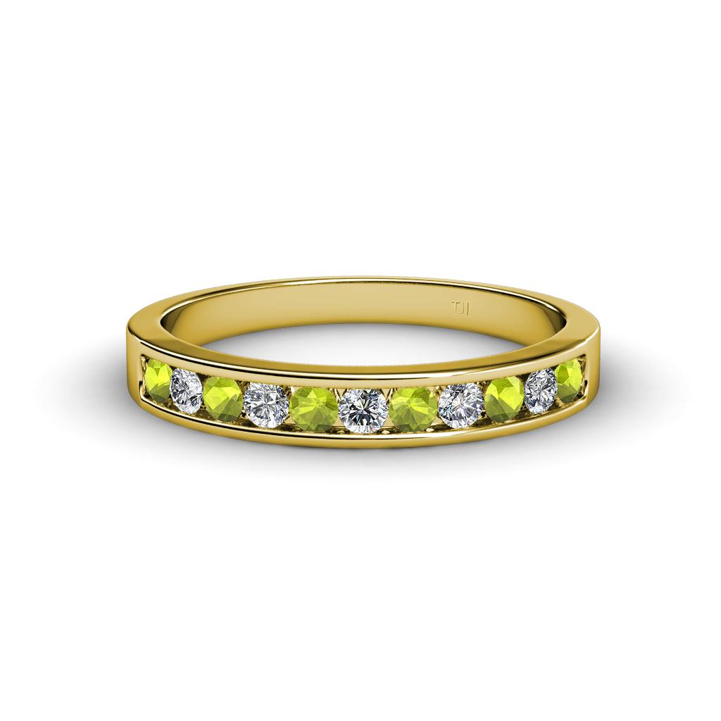 peridot and diamond 11 stone channel set wedding band 0. Black Bedroom Furniture Sets. Home Design Ideas