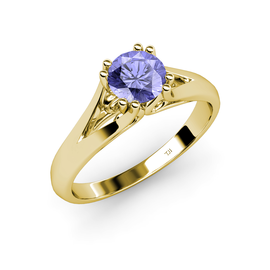 tanzanite 8 prong solitaire women 39 s engagement ring. Black Bedroom Furniture Sets. Home Design Ideas