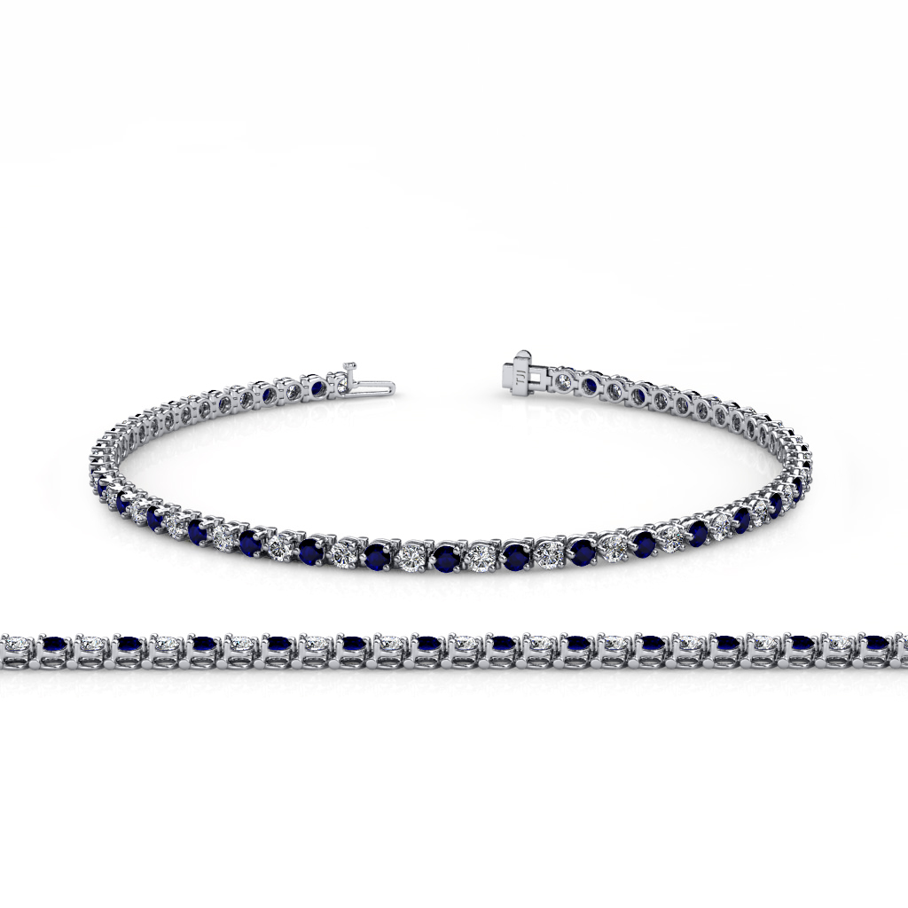 bracelets jewelry sapphire gold diamond carat tennis bracelet in white nl blue wg womens with
